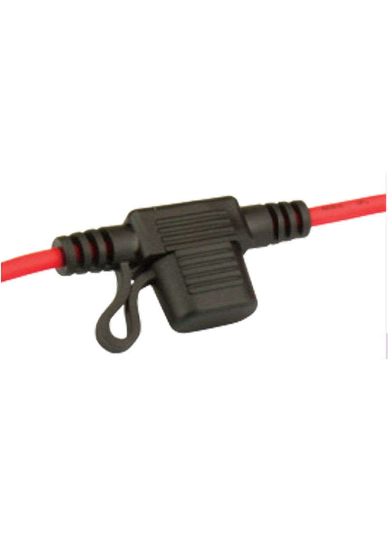 Mini Blade Fuseholder In Line With Cap And Wire Blade