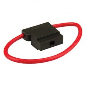 Standard Blade Fuseholder - In line with Cap & Wire