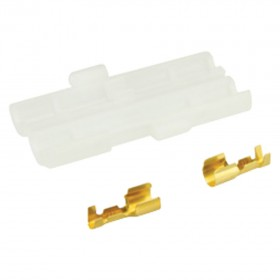Glass Fuseholder - In line with Crimp Contacts